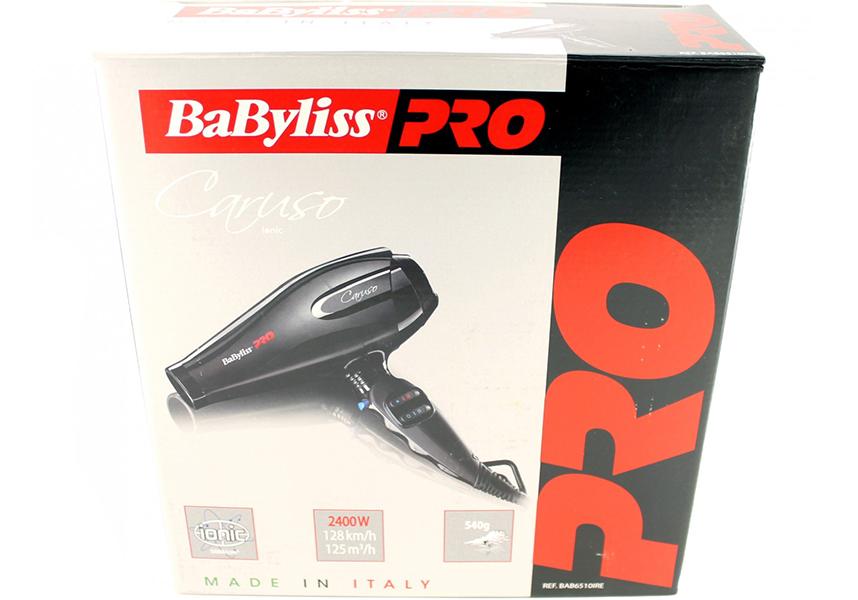 Фен для волос Babyliss Caruso ionic 6510IRE, 2400 W.