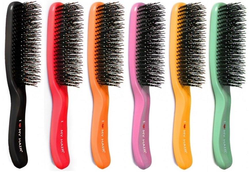 Щетка для волос глянцевая 6 цветов I Love My Hair SPIDER MICRO 1503 S.