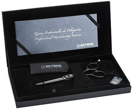"""Ножницы парикмахерские филировочные Artero Black Symmetric 28 5.5"""" Т48355, изображение 4."""