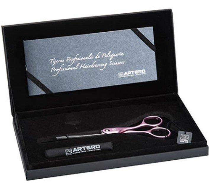 """Ножиці перукарські філірувальні Artero Pink Symmetric 28 5.5"""" Т46755, фото _ab__is.image_number.default"""