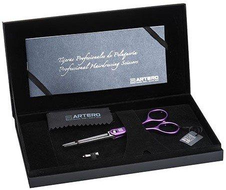 """Ножиці перукарські філірувальні Artero Violet Symmetric 285.5"""" T47555, фото _ab__is.image_number.default"""