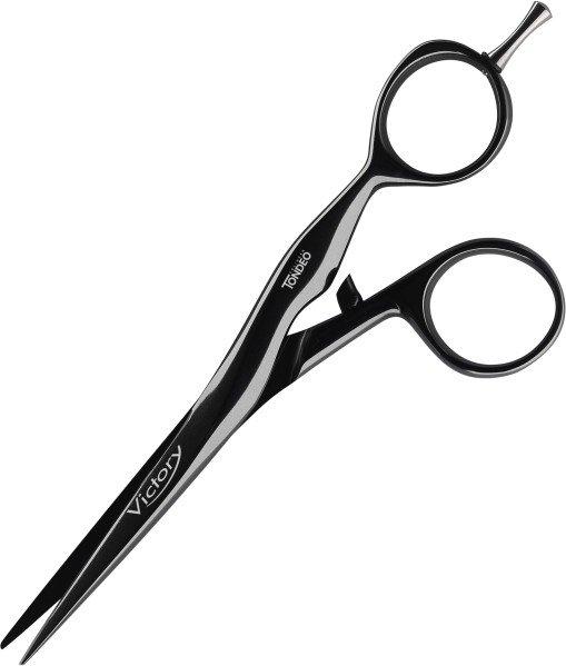 """Ножницы парикмахерские Tondeo Victory Black Offset 5.5""""."""