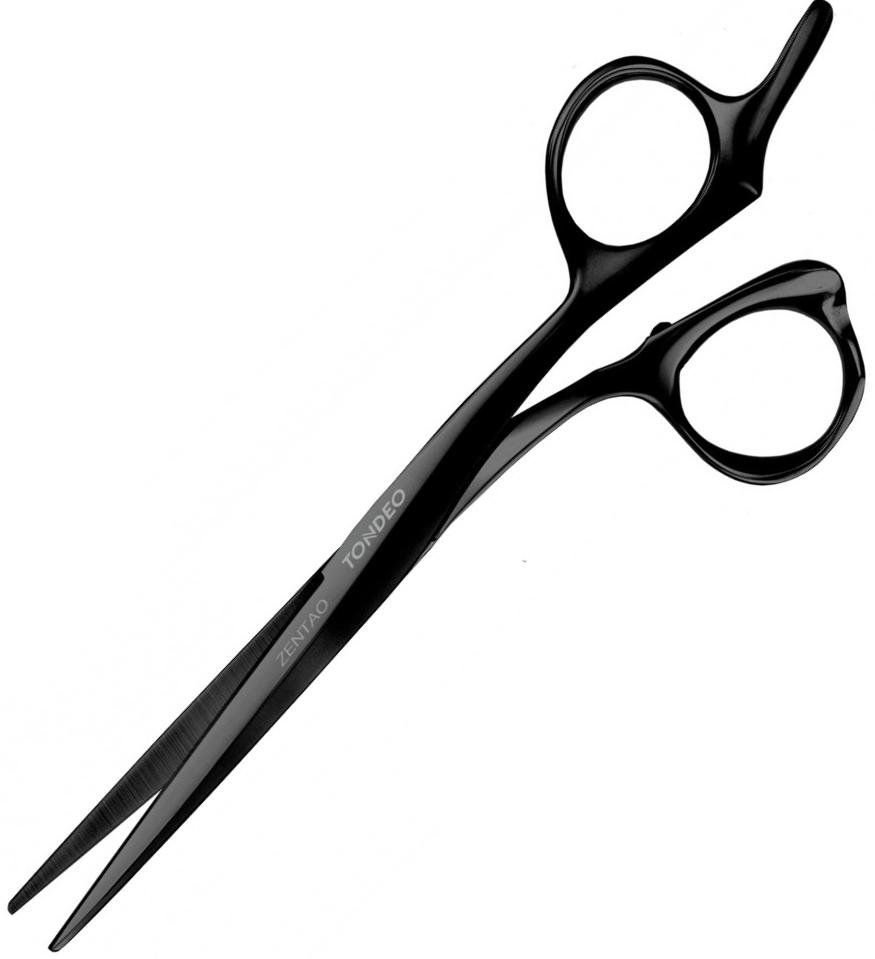 Tondeo Zentao Black Offset 6.0 Ножиці перукарські, фото