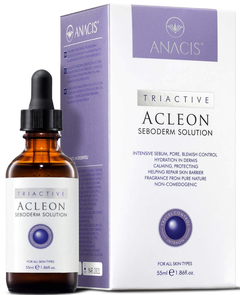Высококонцентрированная сыворотка с увлажняющим и укрепляющим эффектом Anacis Acleon Seboderm Solution Serum, 55 ml, изображение 2.