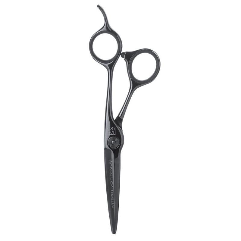 """Ножиці перукарські прямі Artero Evo Black Titanium 5.5"""" Т44855, фото"""